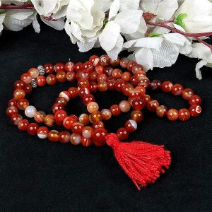 Red Hakik Tasbeeh Stone  Tasbeeh for Muslim Prayer 8 mm 99 Beads