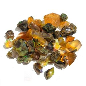 Natural Fire Opal Crystal Stone Rough Raw