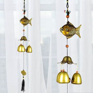 Fengshui Fish Wind Chimes Home Positive Energy