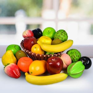 Mix Artificial Fruits -Pack of 12 pc  (Color : Multi)