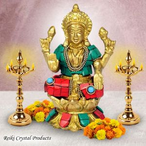 Brass laxmi Statue for Diwali, Home Decor-600-700 Gram Approx