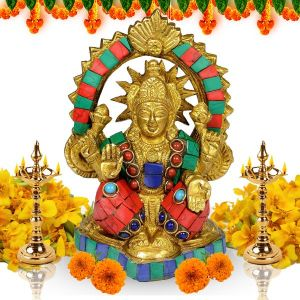 Brass laxmi Statue for Diwali, Home Decor-700-750 Gram Approx