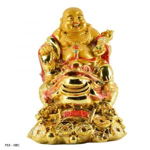 Feng Shui Laughing Buddha On Frog For Wealth