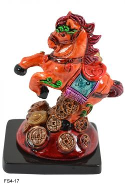 Feng Shui and Vastu Horse With Coins And Ingot for Wealth