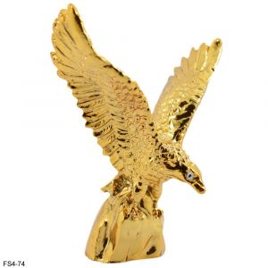 Golden Flying Eagle Spreading Wings For Wealth & Success