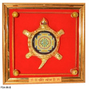 Vastu / Feng Shui Yantra, Shree Yantra On Turtle / Tortoise For Wealth And Success And Achievement