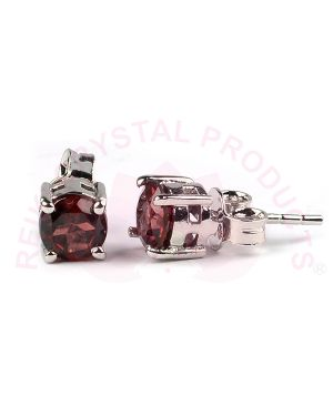 Garnet Silver Stud/Earring Gemstone for Women Girls