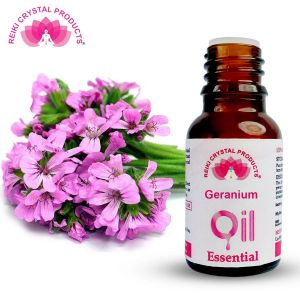 Reiki Crystal Products Geranium Essential Oil - 15 ml, Aroma Therapy