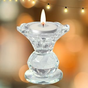 Crystal Candle Holder for Decoration Tea Light for Party Special Occasion Candlelight Home Decoration