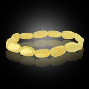 Golden Quartz Oval Bead Bracelet