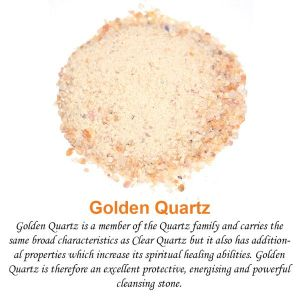 Golden Quartz Crystal / Stone Dust / Chura