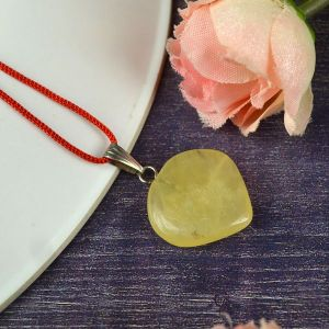 Golden Quartz Heart Shape Pendant - Size 15-20 mm approx