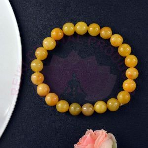 Golden Quartz 8 mm Round Bead Bracelet