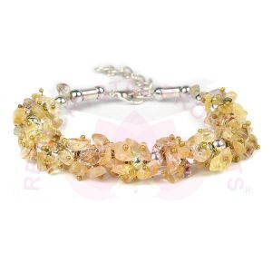 Natural Golden Quartz Chip Bracelet