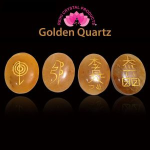 Golden Quartz Reiki Symbol Set 4 pcs