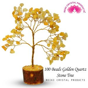 Golden Quartz Natural Chips 100 Beads Tree