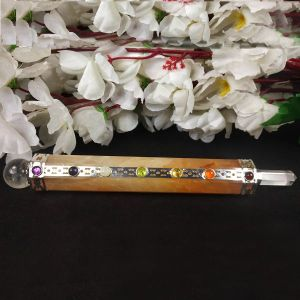 Golden Quartz Healing Wand/Pencil-Reiki Healing and Crystal Healing Wand