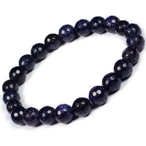Goldstone Blue 8 mm Faceted Bracelet