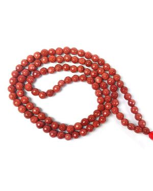 Goldstone Brown Faceted 6 mm 108 Bead Mala