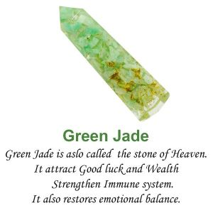 Green Jade Orgone Pencils 8 cm