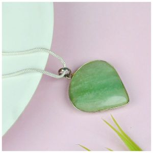 Green Aventurine Heart Shape Pendant - Size 30-35 mm approx
