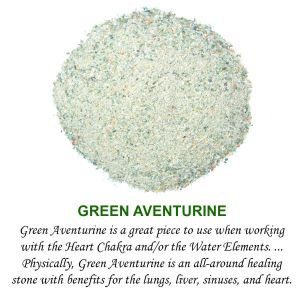 Green Aventurine Crystal / Stone Dust / Chura