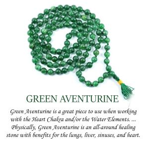 Green Aventurine 6 mm Round Beads Mala & Necklace ( 108 Beads, 26 Inch  Approx)