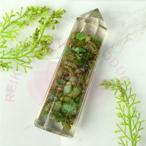 Green Aventurine Orgone Pencil 8 cm
