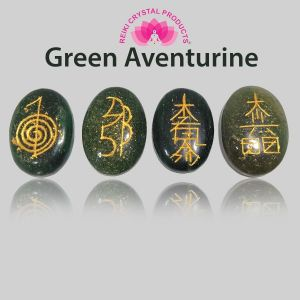 Green Aventurine Reiki Symbol Set 4 pc