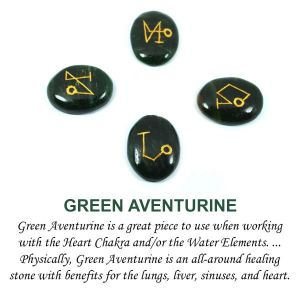 Green Aventurine Arch Angel Sets (4 pcs)