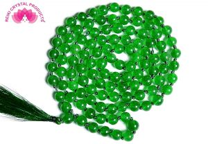 Green Aventurine 8 mm Knotted 108+1 Beads Mala