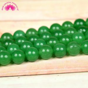 Green Aventurine 8 mm Round Beads For Jewelery Making Bracelet, Necklace / Mala