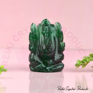 Natural Green Aventurine Crystal Stone Ganesha Idol