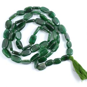 Green Aventurine Oval Bead Mala / Necklace