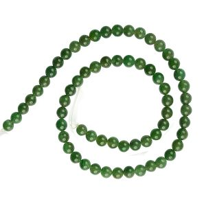 Green Jade Loose Beads Crystal Beads 6 mm Beads Round Stone Beads