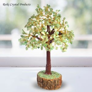 Green Jade 500 Beads Crystal Stone Tree