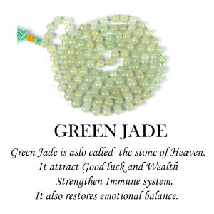 Green Jade 6 mm Round Beads Mala & Necklace ( 108 Beads, 26 Inch  Approx)