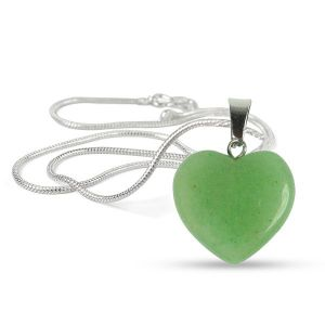 Green Jade Heart Shape Pendant - Size 15-20 mm approx
