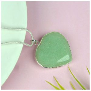 Green Jade Heart Shape Pendant - Size 30-35 mm approx