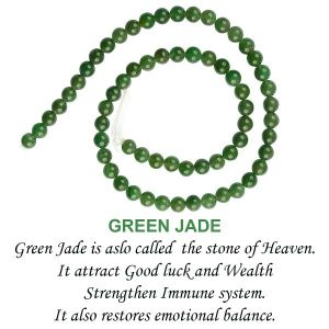 Green Jade 6 mm Round Loose Beads for Jewelery Making Bracelet, Necklace / Mala