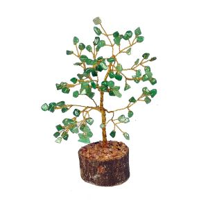 Green Jade Natural Chips 100 Beads Tree