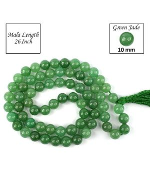 Green Jade 10 mm Round Bead Mala