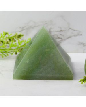 Green Jade Pyramid for Reiki Healing / Grid and Vastu Correction