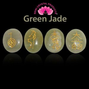 Green Jade Reiki Symbol Set 4 pcs