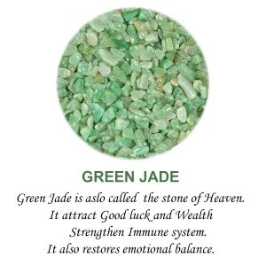 Green Jade Crystal / Stone Chips