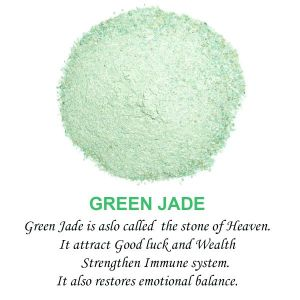 Green Jade Crystal / Stone Dust / Chura