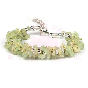 Natural Green Jade Chip Bracelet