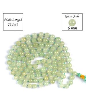 Green Jade 6 mm 108 Round Bead Mala