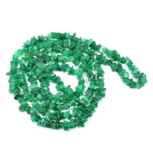 Green Onyx Chip Mala / Necklace With Earring