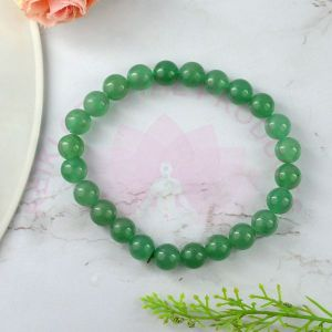 Green Onyx 8 mm Round Bead Bracelet
